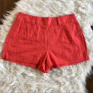 🦋2/$20🦋 🆕 Forever 21 Linen Blend Coral Shorts